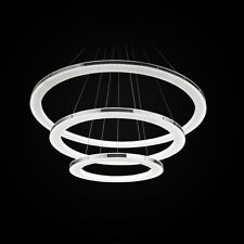 Modern Luxury Acrylic Round LED Chandelier Ceiling Light Pendant Lamp Fixture US