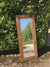 Rectangular  stripped pine framed mirror