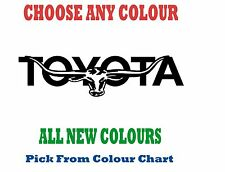 TOYOTA 1200mm LONGHORN DECAL *CHOICE OF COLOURS*  RM Williams STICKER