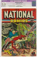 NATIONAL COMICS #7  CGC 3.5 (slight resto)  Classic Lou Fine cover.
