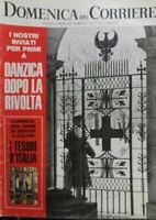 DOMENICA DEL CORRIERE N.3  1971 LA RIVOLTA DI DANZICA