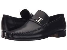 Men's $450 Bruno Magli Amalfi Black Leather Dress Loafers Shoes 43 10