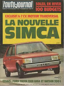L'AUTO JOURNAL 1977 19 FORD FIESTA 1300 GHIA SIMCA HORIZON DATSUN 200L GP CANADA