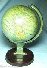 RARE GLOBE OF THE WORLD CHAD VALLEY TIN PLATE TOY SAME AS 1938 CRAWFORDS BISCUIT