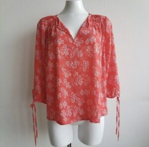 Collective Concepts Zimmerman Tie Sleeve Blouse Sz S