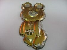MISHA Vintage 1980 Moscow Russia Olympic Mascot Metal Wall Hanging Decoration