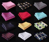 DA Polka Dot Men Silk Pocket Square Hanky Wedding Party Handkerchief Fashion