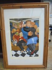 Beryl Cook Limited Edition of 650, Shall we Dance, Hand Signed Print. Framed.