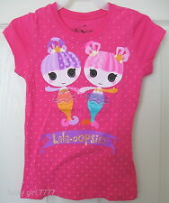 LaLaLOOPSY LaLa OOPSIES Glittered MERMAID Fin & Tadpole Girls Shirt 4/5 FREE SH