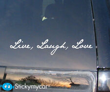 LIVE LAUGH LOVE car decal sticker cute lips bow hello kitty girl white vinyl