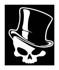Tattoo Shop Sign Decoration Skull in Top Hat Vinyl Car Truck Decal Sticker 6x5
