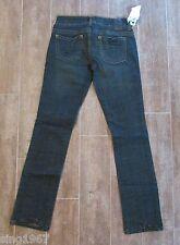 "26 "" Marlow Womens Jeans size 2 Basic Straight antique dark denim skinny 31"""