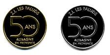 13 AUBAGNE Z.I. Les Paluds, Paire couleur or et argent, 2018, Monnaie de Paris