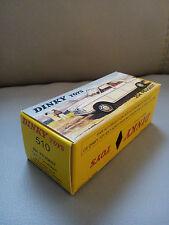 Boite imprimerie pro dinky toys 510 idem origine PEUGEOT 204 vitrée