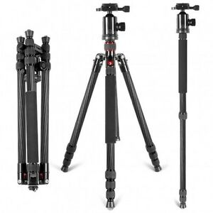 Neewer Portable Carbon Fiber Camera Tripod Monopod With 360 Ball Head