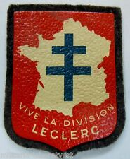 Insigne Patch WWII 2° DB VIVE LA DIVISION LECLERC ORIGINAL LIBERATION FRANCE