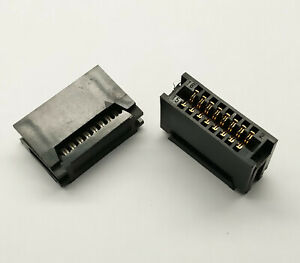 2 PCS. 16-Pin Card Edge Female IDC connector 2.54mm pitch flat ribbon cable
