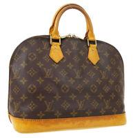 LOUIS VUITTON ALMA HAND BAG VI1906 PURSE MONOGRAM VINTAGE M51130 AUTH A51693