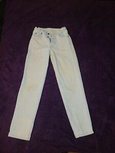 Vintage Levis Orange Tab Student Size 27 X 30 Light Wash Denim Jeans