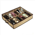 12 Pairs Shoes Storage Organizer Holder Clear Top Shoe Bag Box Under Bed Closet