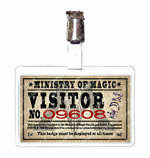 Harry Potter Ministry of Magic Visitor ID Badge Hogwarts Cosplay Prop Comic Con