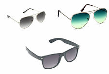 Combo OF Two Aviator and One Premium Sunglasses