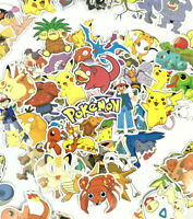 Random 50pc Lot Pokemon Anime Character Wall Laptop PS XBOX Decal Sticker Set