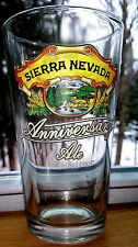NEW SET (4) OF SIERRA NEVADA PALE ALE 12oz ANNIVERSARY BEER GLASSES