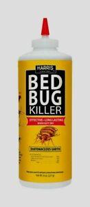 HARRIS HDE-8 BED BUG Diatomaceous Earth Powder Egg INSECT KILLER 8oz Pet Safe