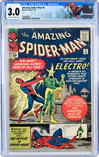 The Amazing Spider-Man 9 CGC 3.0 GD/VG - 1st Electro