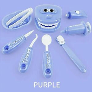 9X/set Kids Pretend Play Toy Dentist Check Teeth Model For Doctors Role Play