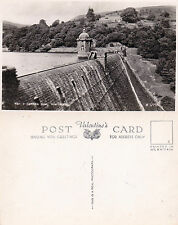 1920's PEN Y CARREG DAM RHAYADER POWYS WALES UNUSED REAL PHOTOGRAPH POSTCARD