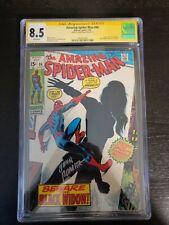 AMAZING SPIDER-MAN #86 ORIGIN BLACK WIDOW CGC 8.5 White signiture John Romita