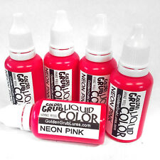 NEW 1 OZ. NEON PINK Liquid Color Fishing Plastic Soft Bait Plastisol Making