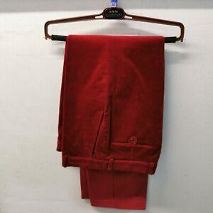 "Brook Taverner Men's Red Tiverton Corduroy Trousers 32"" Waist / 33"" Leg"