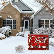 Keep Christ in Christmas Lawn Display (Red with Snowflakes) Yard Sign