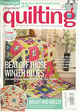 POPULAR QUILTING, PASSIONATE ABOUT PATCHWORK AND QUILTING,    JANUARY, 2014