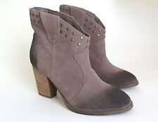 STEVE MADDEN Ankle Boots 8 Brown Suede High Heel Booties
