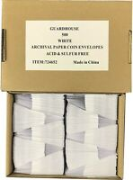 100 2x2 Green Paper Coin Envelopes Acid and Sulpher Free Safe for Coins