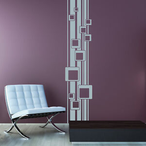 Wandtattoo Retro Cubes Würfel Linien Striche Aufkleber Wall Wand Tattoo #2091