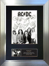 More details for acdc rock band signed autograph mounted photo repro a4 print 689