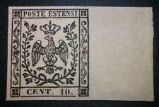 Modena 1852 10 cent con punto nuovo ** con gomma MNH