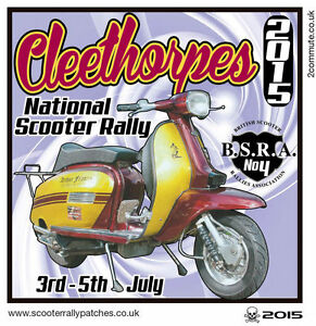2015 CLEETHORPES SCOOTER RALLY RUN  PATCH BSRA MODS SKINHEADS not PADDY SMITH