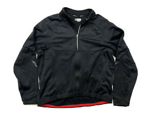 Specialized Men's Black Therminal Full Zip Long Sleeve Cycling Jersey XXL 2XL
