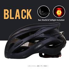LED Rear Light 20 Vents Bicycle Helmets Road Bike MTB Riding Helmet Black B6O2