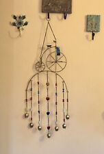 Metal Stained Glass Vintage Style Bicycle Hanging Wind Chime Sun Catcher Mobile