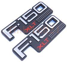 92 93 94 95 96 Ford F-150 XLT 2pc Fender Emblem Nameplate Badge Side F150 Logo
