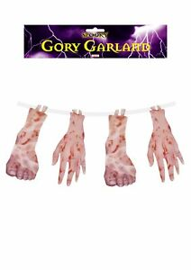 Zombie 1.8M Halloween GORY GARLAND Severed Limbs Torture hanging decoration