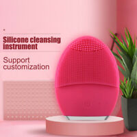 Electric Silicone Face Cleansing Brush Massager Vibrate Facial Blackhead Removal
