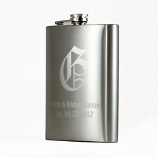 12oz Personalized Engraved Custom Hip Flask with Funnel New